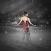 Red dress snow storm.