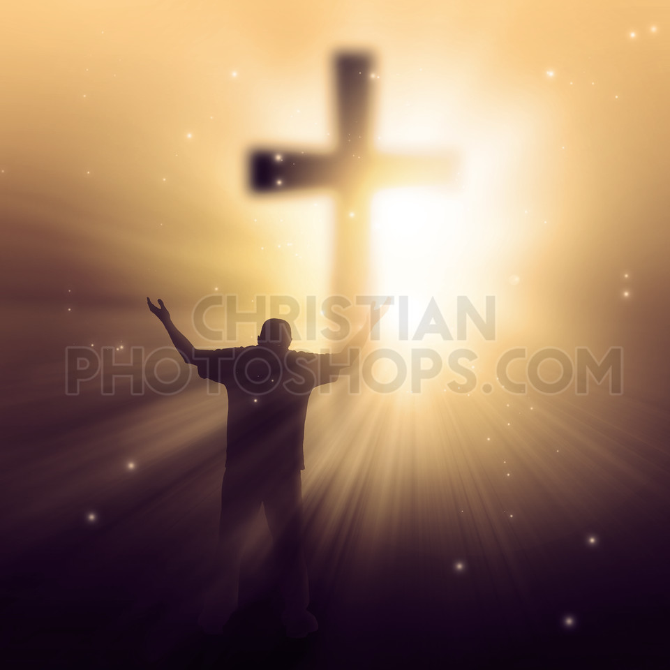 Sunbeams and cross