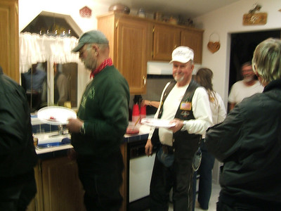Darerel Case & Eddie Pinson, they always seem to know where the food is.