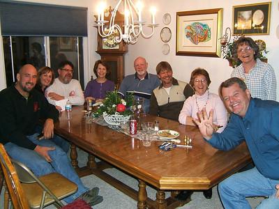 We were all fed and looking forward to tomorrow. From left; Mike Deibert, Sherry, Tim, CJ, Ken, Eric, Perri, Carole & Lynn aka #4