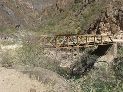 First bridge at bottom Copper Canyon.