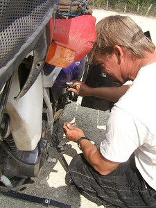Fixing the broken rack!