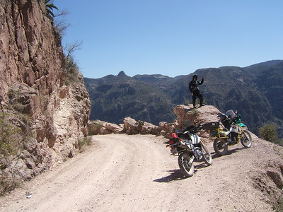 "The beginning descent into the Copper Canyon. Mike M. and Ken's ""Trigger"""