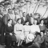 Standing: Percy Proughton, Jack Zantuck, Cyril Matson, Chris Williams, Jeff Keltry, Jack Craig.<br /> Sitting: Grace Machen, Alice Begbie, Doris Borland, Lucy Manning, Myerle Robinson<br /> Front: Jeanette Robinson.