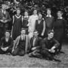 1927: Back. Sam Jones, Alice Begbie, Nell Crawford, Lucy Manning, Lovie Mancy, Carrie Waymouth, Brisy Burnley, Front: Wattie Simms, Chris Williams, Bert Helm, Les Hawse.