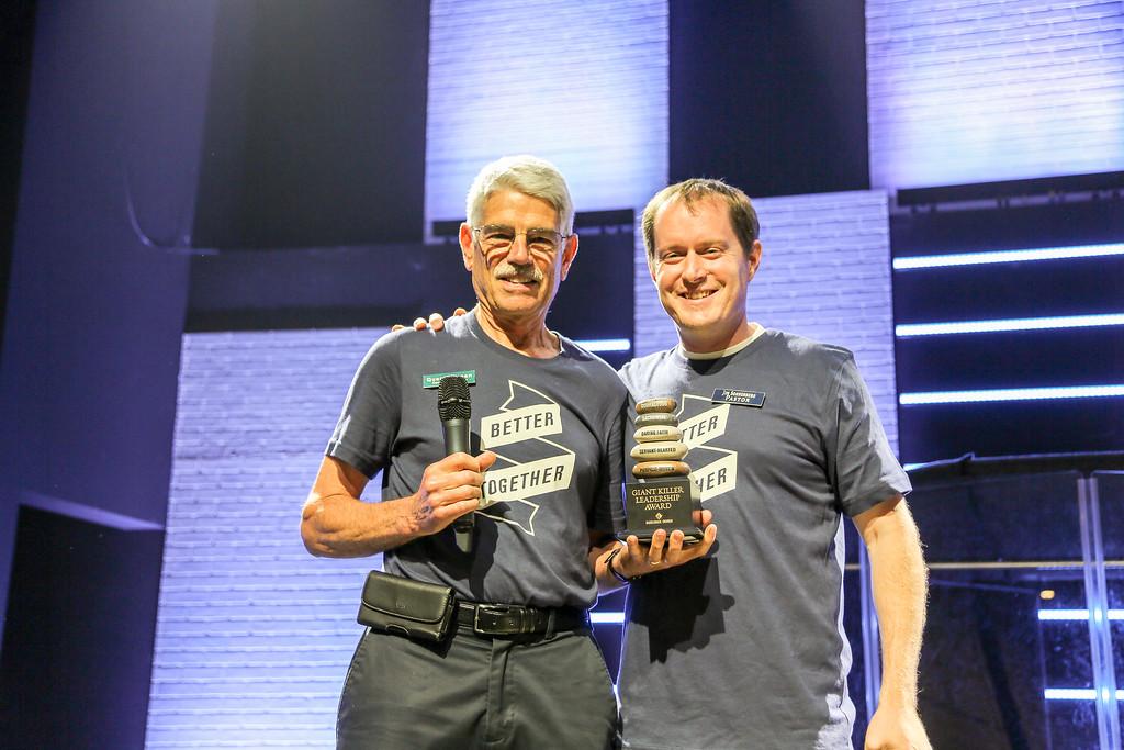 2016-04-10 Quent Cassen Receiving Anaheim's Giant Killer Award