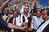 Rassemblement festif des hommes de Maaloula à l'occasion de la fête de l'Exaltation de la croix. Syrie