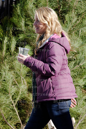 Christina Applegate during the set of the TV series Up All Night in Los Angeles,California.