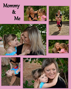 Mommy & Me photos made into a collage .