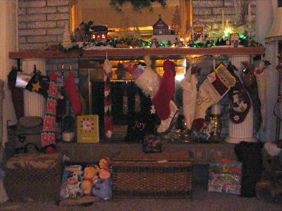 Santa brought the stocking stuffers a couple days early so Rob & Chris' family could open theirs with the rest of the fam