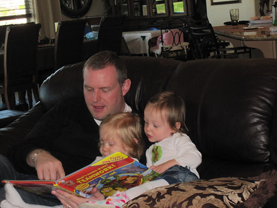 Brant reading with Daphne and Fiona