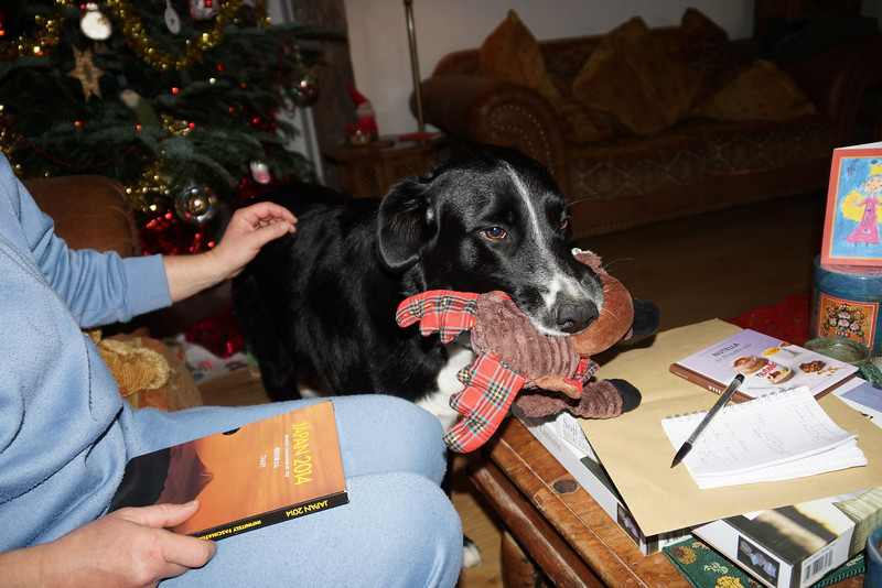 Mika having opened her moose.