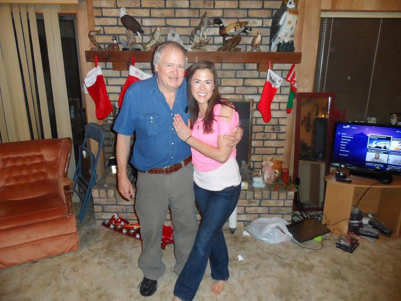 Dad and Sarah Jane.