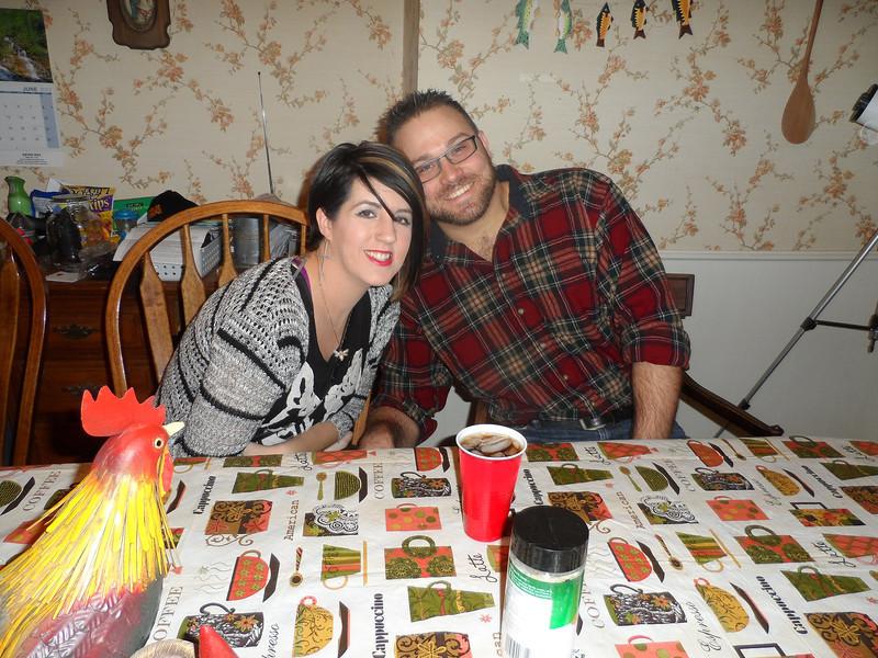 Luke's friend Charles and wife.