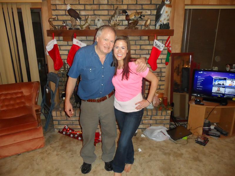 Dad and oldest daughter, Sarah.