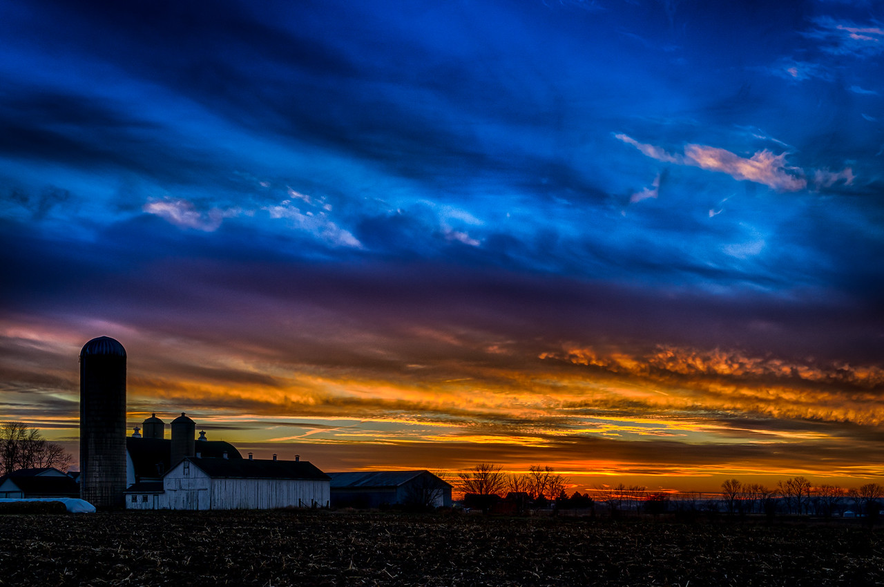 Wisconsin Sunset, Christmas 2014