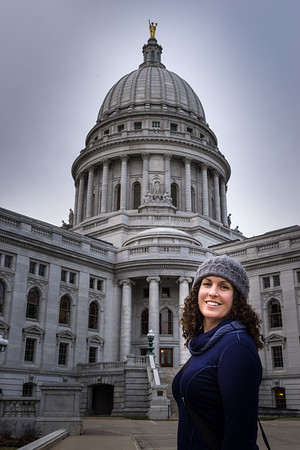 Sarah at the State Capitol in Madison