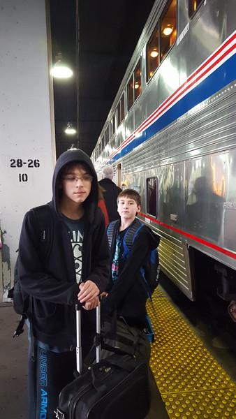1st train ride, Wy, Christmas