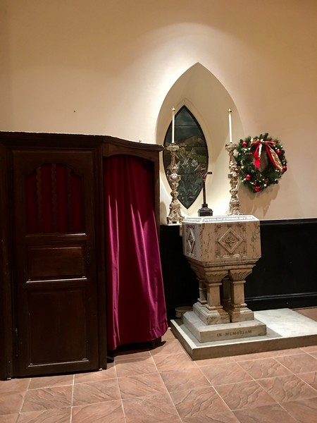 Confessional and Font