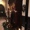 Shrine of St Francis decorated for Christmas