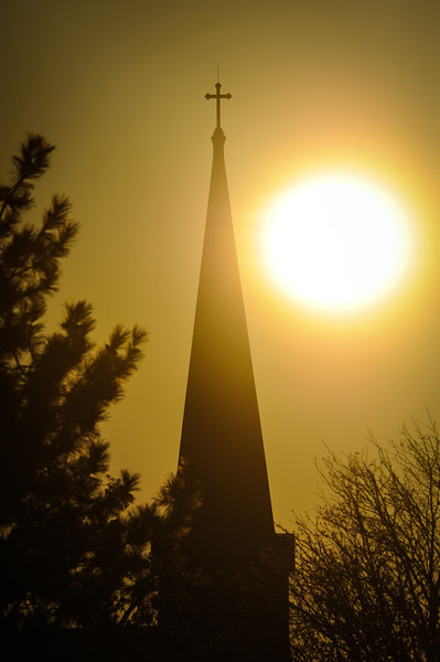 St Stephens Church, Sunset, Vigo County (Terre Haute)