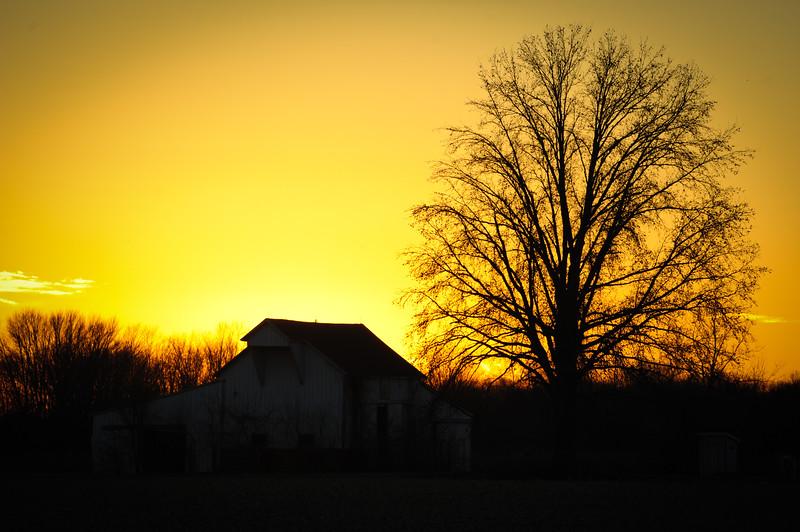 Barn Sunrise Sunset Clay County
