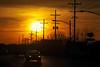 Sunset over Ft. Harrison Road, Terre Haute, Vigo County