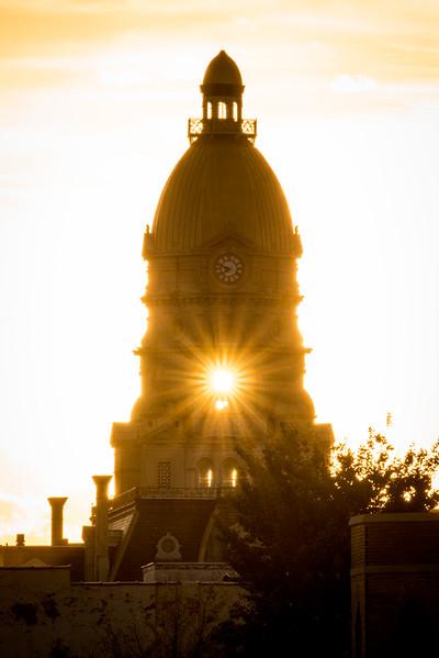 Vigo County Courthouse at Sunset September 2017
