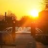 Indiana State University Fountain ISU Sunrise Sunset