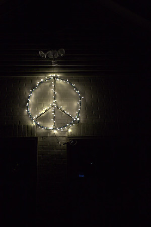 Peace Symbol is up year round.