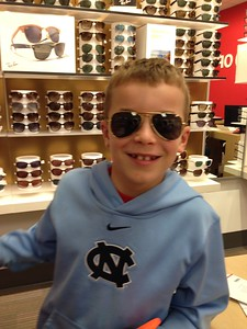 Conall's new prescription sunglasses