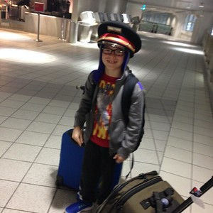 Conall at the airport!