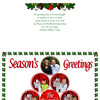 Both front and back covers of Christmas card 2009