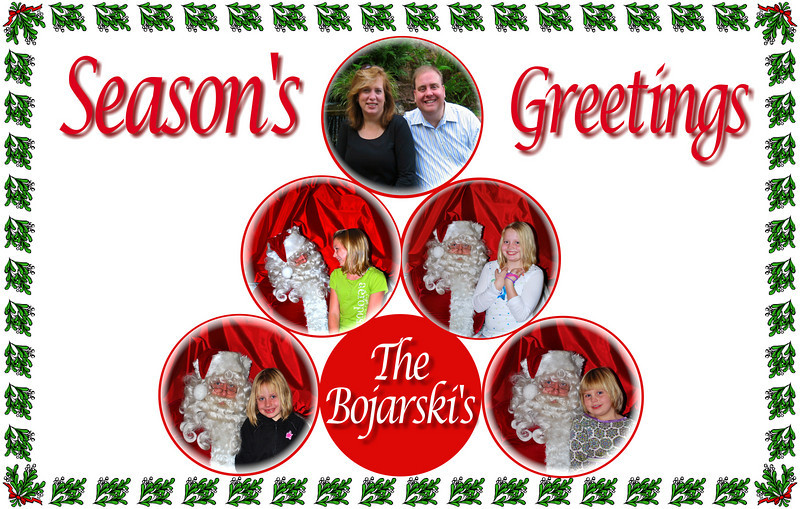 Front cover of Christmas card 2009