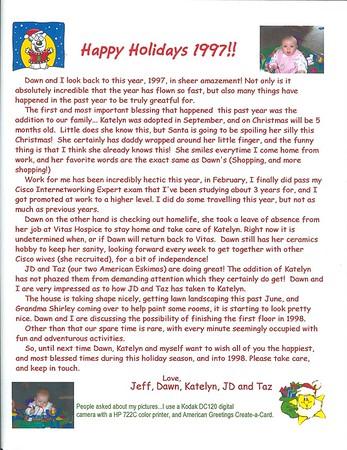 Bojarski Christmas Letter 1997