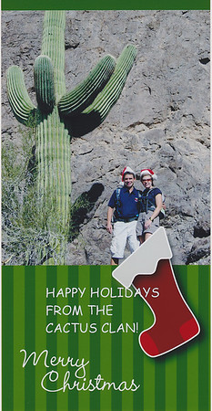 2005 - Hiking Picaho Peak in AZ - Our first photo christmas Card using the hats!