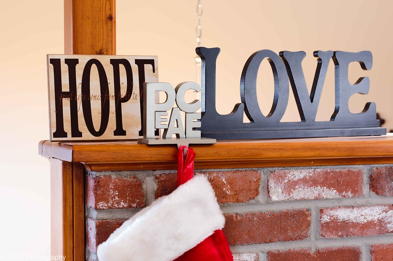 Hope, peace, and love