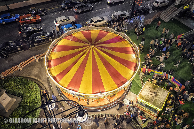 George Square Carousel from above