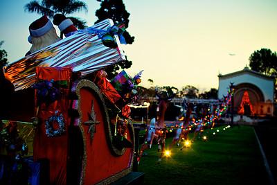 Santa in Balboa Park - Antique Look