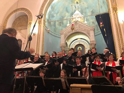 The Erevan Choral Society under the direction of Composer Konstantin Petrossian, Music Director and Conductor.