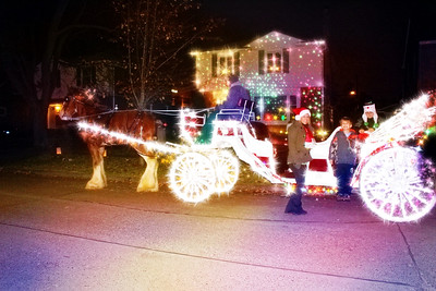 Christmas Horse Drawn Carriage thru the Years
