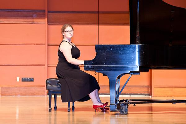 Erica's senior recital for her music major at Bethel University May 2013