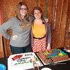 Double grad party - there's not THAT much height difference - camera tricks!