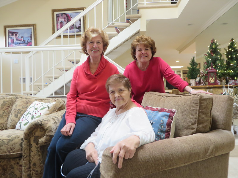 Christmas Party at Cottons with Betty's sisters: Joanne and Ellen on 12/12/16!
