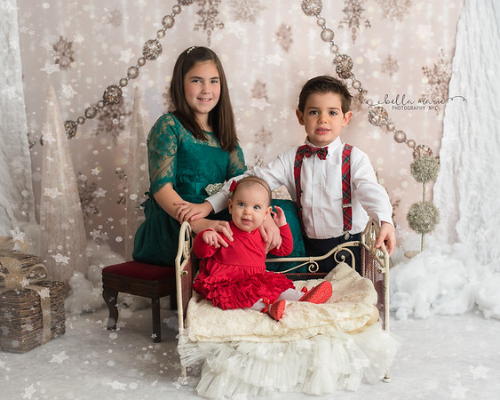 Baby's First Christmas with siblings