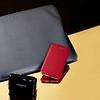Embossed Sleeve with iPhone 7 Folio Chili and World Travel Adaptor