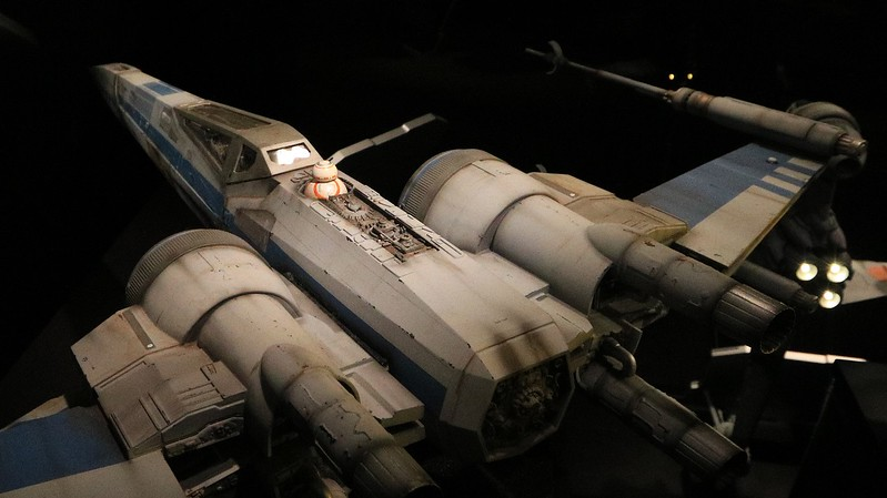 0Disney Calif  2017, 599A, Rebel X-Wing fighter with BB-8-
