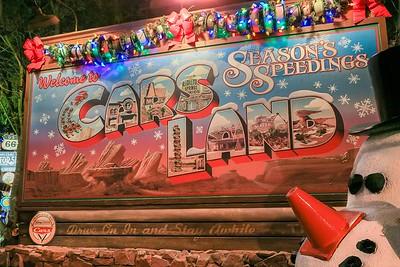 0Disney Calif  2017, 304A Cars Land Xmas billboard-