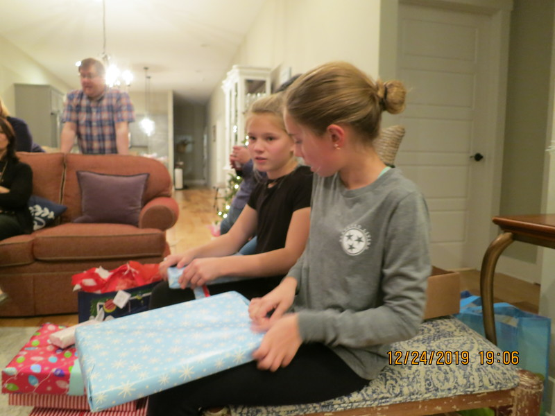 The Girls with matching  presents?