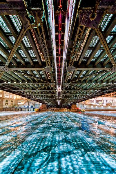 Beneath the Michigan Avenue Bridge